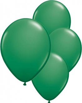 "11"" Green Latex Balloons 6pk"