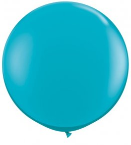 3ft Tropical Teal Latex Balloons 2pk