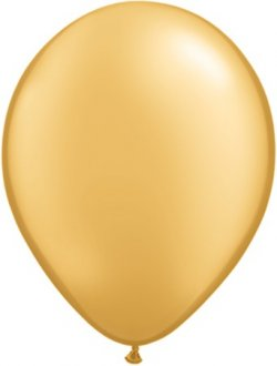 "5"" Metallic Gold Latex Balloons 100pk"