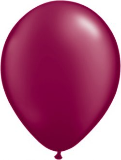 "5"" Pearl Burgundy Latex Balloons 100pk"