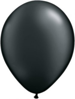 "5"" Pearl Onyx Black Latex Balloons 100pk"
