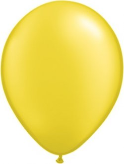 "5"" Pearl Citrine Yellow Latex Balloons 100pk"