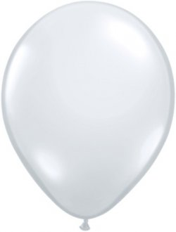 "9"" Diamond Clear Latex Balloons 100pk"