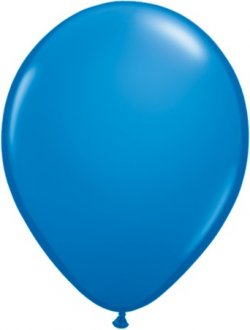 "9"" Dark Blue Latex Balloons 100pk"
