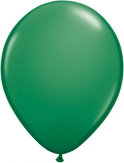 "9"" Green Latex Balloons 100pk"