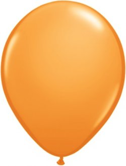 "9"" Orange Latex Balloons 100pk"