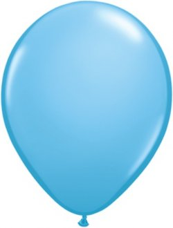 "9"" Light Blue Latex Balloons 100pk"