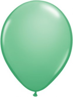 "9"" Winter Green Latex Balloons 100pk"