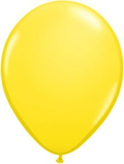 "9"" Yellow Latex Balloons 100pk"