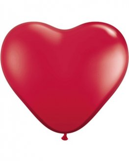 "11"" Ruby Red Heart Latex Balloons 100pk"