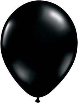 "11"" Onyx Black Latex Balloons 100pk"