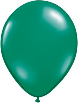 "11"" Emerald Green Latex Balloons 100pk"
