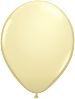 "11"" Ivory Silk Latex Balloons 100pk"