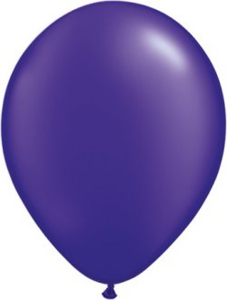 "11"" Pearl Quartz Purple Latex Balloons 100pk"