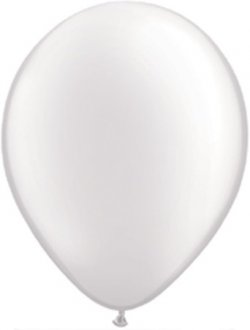 "11"" Pearl White Latex Balloons 100pk"