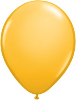 "16"" Golden Rod Latex Balloons 50pk"