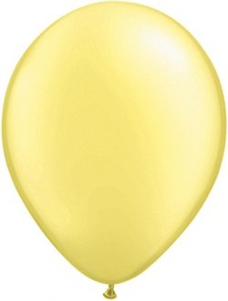 "16"" Pearl Lemon Chiffon Latex Balloons 50pk"