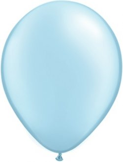 "16"" Pearl Light Blue Latex Balloons 50pk"