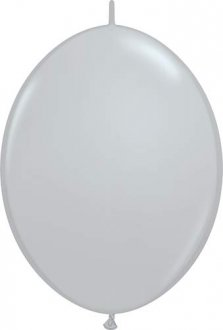 "6"" Grey Quick Link Latex Balloons 50pk"