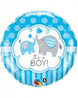 "18"" Its A Boy Elephants Foil Balloons"