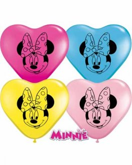 "6"" Minnie Mouse Face Latex Balloons 100pk"