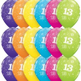 "11"" 13 Around Tropical Assorted Latex Balloons 25pk"