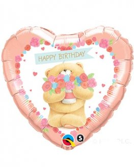 "18"" Forever Friends Birthday Bear Foil Balloons"