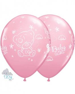 "11"" Tatty Teddy Baby Girl Latex Balloons 25pk"