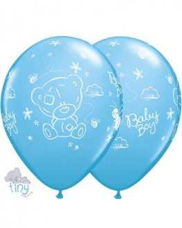 "11"" Tiny Tatty Teddy Baby Boy Latex Balloons 25pk"