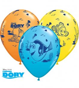 "11"" Disney Finding Dory Latex Balloons 25pk"
