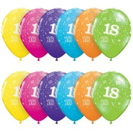 "11"" 18 Tropical Assorted Latex Balloons 25pk"