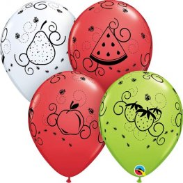"11"" Outdoor Picnic Latex Balloons 25pk"