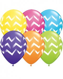 "11"" Chevron Stripes Latex Balloons 25pk"