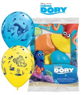 "12"" Disney Finding Dory Latex Balloons 6pk"