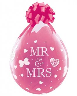 "18"" Mr And Mrs Stuffing Latex Balloons 25pk"
