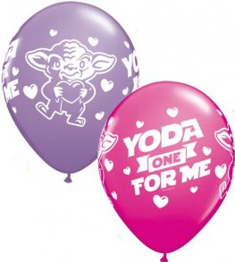 "11"" Yoda One For Me Latex Balloons 25pk"