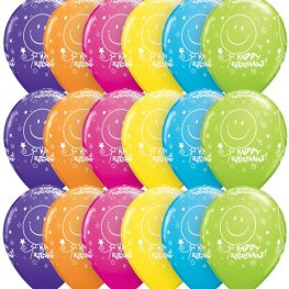"11"" Retirement Tropical Assorted Latex Balloons 25pk"