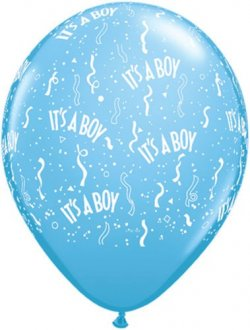 "5"" Its A Boy Pale Blue Latex Balloons 100pk"