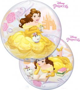 "22"" Disney Princess Belle Single Bubble Balloons"