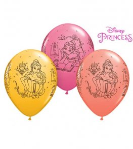 "11"" Disney Princess Belle Latex Balloons 25pk"