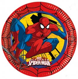 Spiderman Paper Plates 8pk