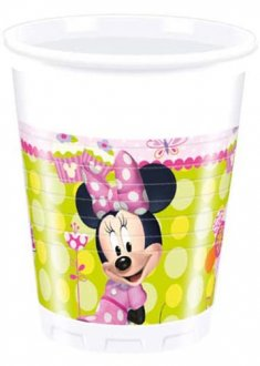 Disney Minnie Mouse Plastic Cups 8pk