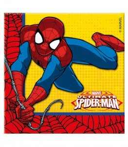 Spiderman Paper Napkins 20pk