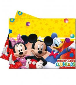 Playful Mickey Plastic Tablecover 1pk