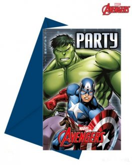 Avengers Power Invitations & Envelopes 6pk