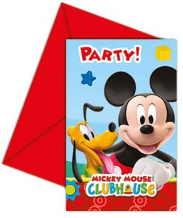Playful Mickey Invitations & Envelopes 6pk