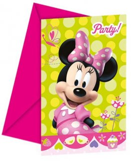 Disney Minnie Mouse Invitations & Envelopes 6pk