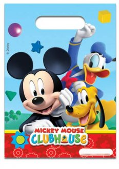 Playful Mickey Party Loot Bags 6pk