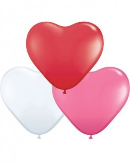 "6"" Love Assorted Heart Latex Balloons 100pk"