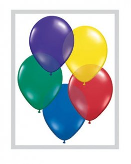 "11"" Radiant Jewel Assorted Latex Balloons 100pk"